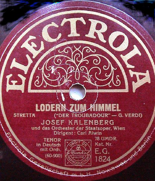 Picture of Josef Kalenberg's record label